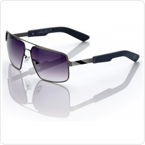 "Спортивные очки 100% ""HAKAN"" Sunglasses Brushed Silver - Grey Gradient Tint"