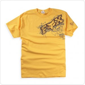 Футболка FOX Graveyard s/s Tee [Yellow]