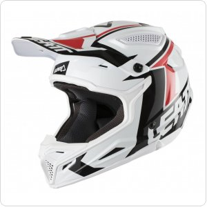 Мотошлем LEATT Helmet GPX 4.5 V20 ECE [White/Black]