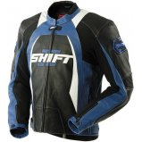 Мото куртка SHIFT SR-1 Leather Jacket [Black/Blue]